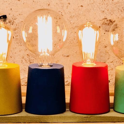 LAMPE CYLINDRE XXL en béton