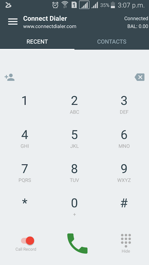 Connect Dialer- screenshot