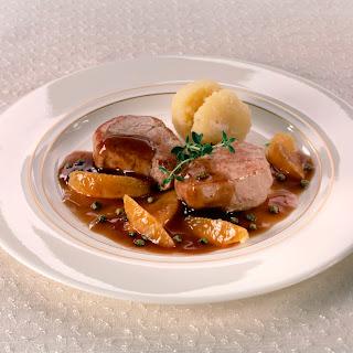 Schweinemedaillons in Orangen-Pfeffer-Sauce