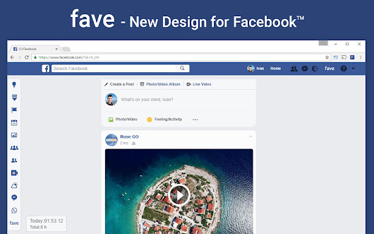fave - New Features and Design for Facebook