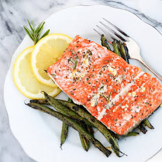 10-Minute Garlic and Rosemary Roasted Salmon.