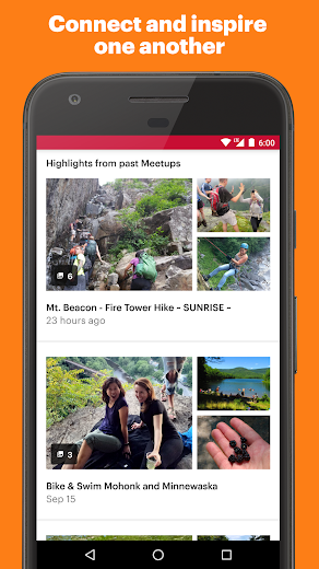 Screenshot 3 for Meetup's Android app'