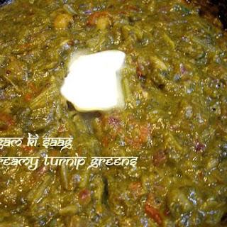 Salgam Ki Saag - Creamy Soft Cooked Turnip Greens
