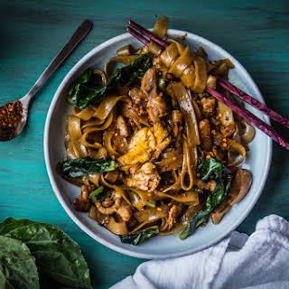 Pad See Ew (Thai Stir-fried Rice Noodles)- 4 generous serving.