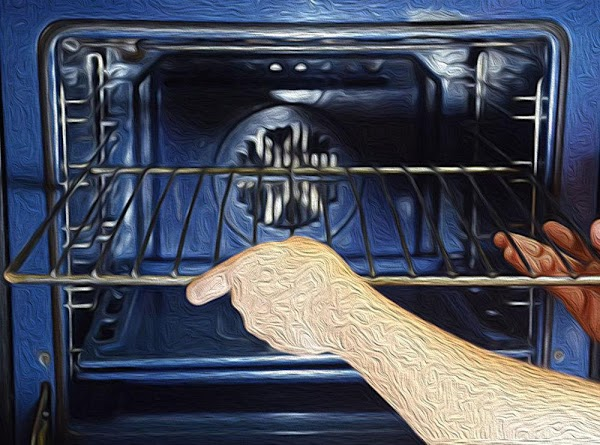 Place a rack in the middle position, and then preheat the oven to 300f...