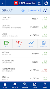 HDFC securities MobileTrading - náhled