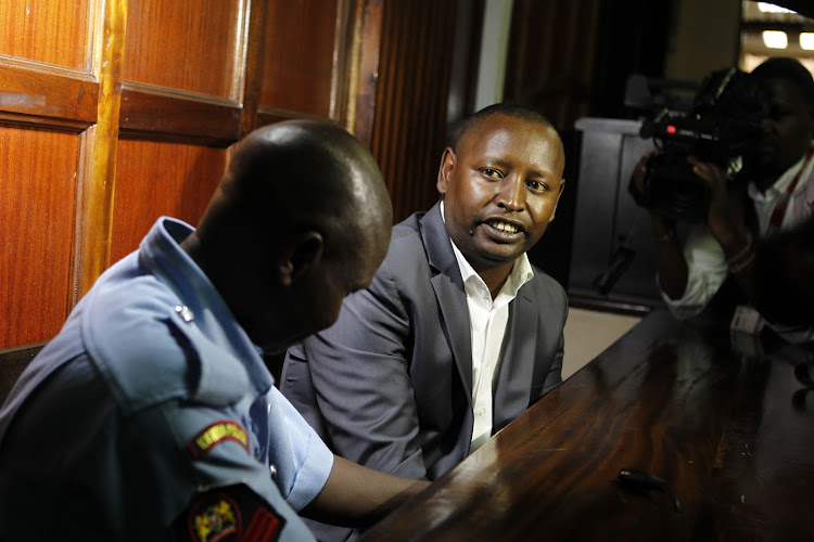 Samburu Governor Moses Lenolkulal at a Milimani court on Tuesday, April 2, 2019