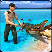 Survival Crocodile Simulator  : Beach Attack 2019
