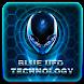 Blue Alien UFO theme