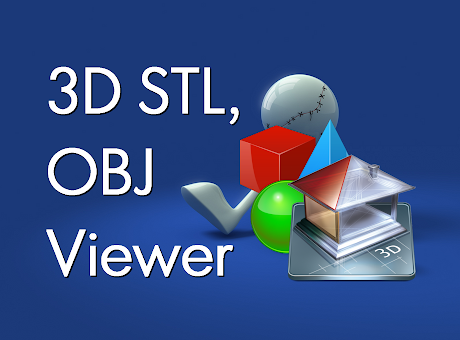 3D STL, OBJ Viewer with Drive