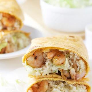 Cajun Shrimp Wrap.