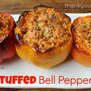 Stuffed Bell Peppers With Rice Vegetarian Recipes