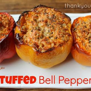 Vegetarian Stuffed Bell Peppers.