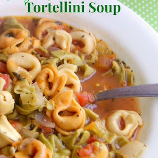 Weight Watchers Friendly Tortellini Soup (With Crock Pot Instructions).