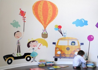 Photo: Pop & Lolli wall stickers available at Just Kids Wallpaper. www.justkidswallpaper.com