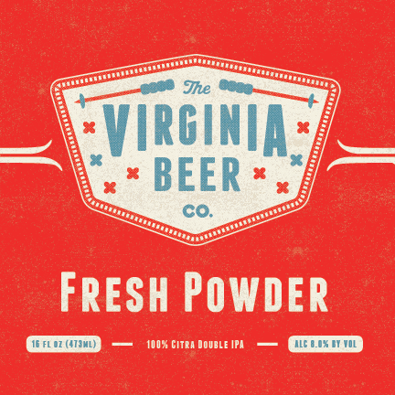 Logo of Virginia Beer Co. Fresh Powder