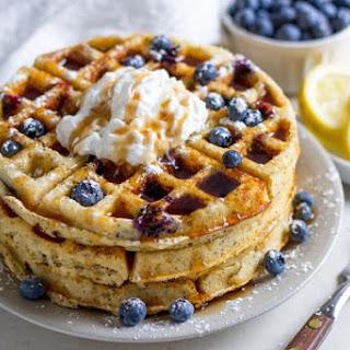 Lemon-Blueberry Poppyseed Ricotta Waffles Recipe