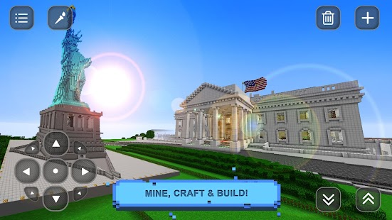 Usa block craft exploration 3d android apps on google play for Block craft 3d online play