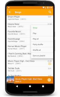 Mp3 Media Player for Android Nougat - náhled