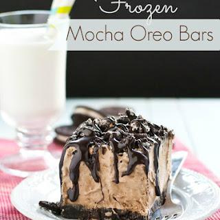 Frozen Mocha Oreo Bars.