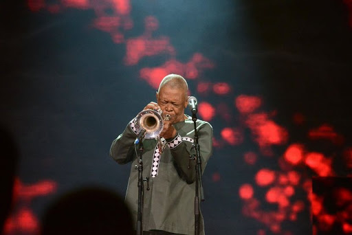 Hugh Masekela is a world-renowned flugelhornist, trumpeter, bandleader, composer, singer during the DStv Mzansi ViewerÕs Choice Awards (DStvMVCA) event at the Sandton Convention Centre on August 26, 2017 in Sandton. Picture credits: Gallo Images