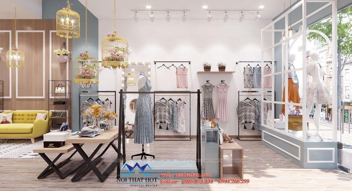 thiết kế shop thời trang nữ dova cao cấp