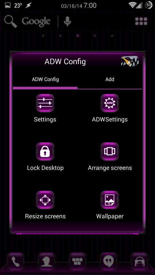 Скриншот Kosmic Apex/ADW/Nova Theme
