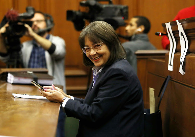 Patricia de Lille in the Cape Town High Court on Monday in the latest installment of her drawn-out battle with the Democratic Alliance.