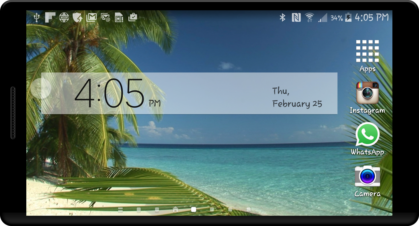 paradise island hd lwp android apps on google play. Black Bedroom Furniture Sets. Home Design Ideas