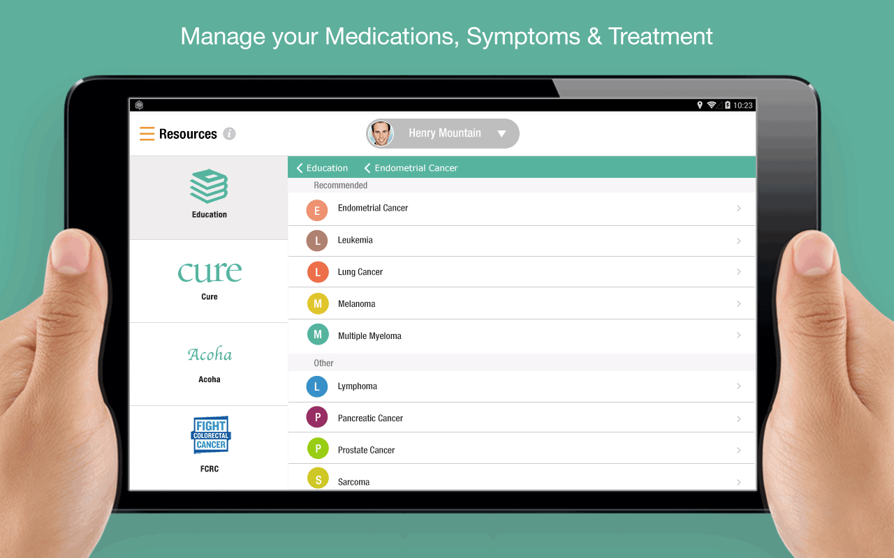 iCancerHealth : Cancer Care- screenshot