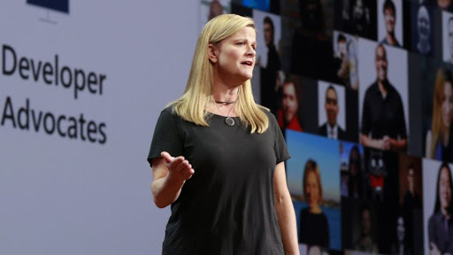 Charlotte Yarkoni, corporate VP for cloud and artificial intelligence at Microsoft.