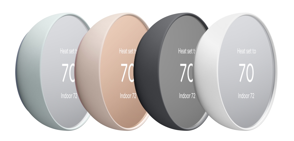 Nest Thermostat family all colors