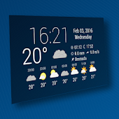 Simple Time & Weather Widget