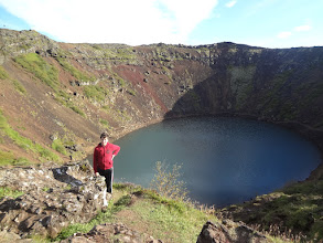Photo: Our final Golden Circle stop was Kerid Crater Lake