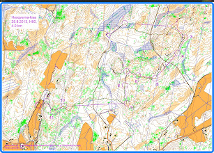 Photo: Husqvarna 2013, H50 course drawn onto a Karttapullautin base map