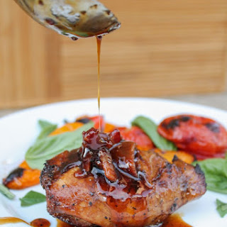 Balsamic Grilled Chicken with Spicy Honey Bacon Glaze.
