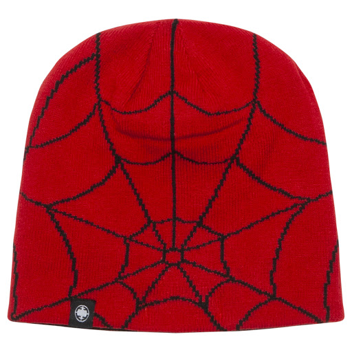 Thumbnail images of Fabric Flavours Spiderman Beanie Hat