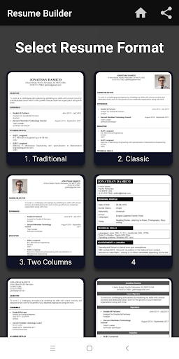 Resume builder Free CV maker templates formats app 9.3 screenshots 6