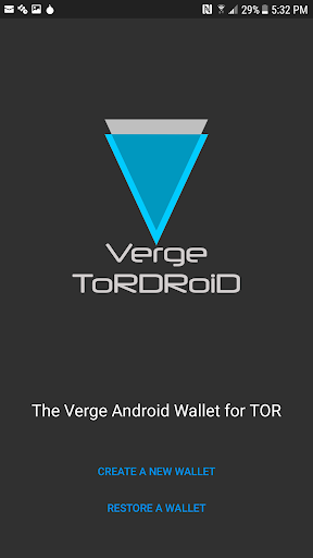 Verge Tor Wallet for Android  screenshots 1