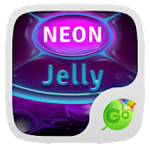 Neon Jelly GO Keyboard Theme