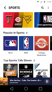 TuneIn: NFL Radio, Music, Sports & Podcasts- screenshot thumbnail