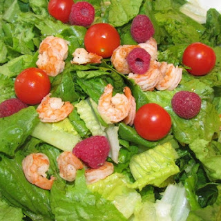 Romaine, Shrimp and Raspberry Salad