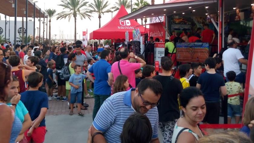 Hoy es el último día para visitar los stands de Nintendo Switch en Almería.