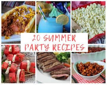 20 Summer Party Recipes