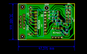Photo: eLab Hackerspace GSM Access Control System - RS232/LVTTL/TTL Communications Board PCB