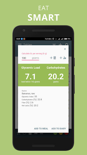 Glycemic Index Load in food net carbs diet tracker Apk 2