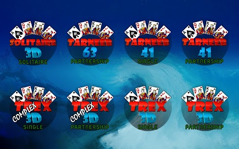 Golden Card Games (Tarneeb – Trix – Solitaire) 6