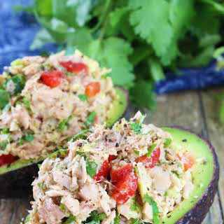 Healthy Tuna Stuffed Avocado.