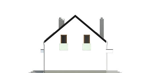 Sosnówka bez garażu bliźniak B-BL1 - Elewacja prawa