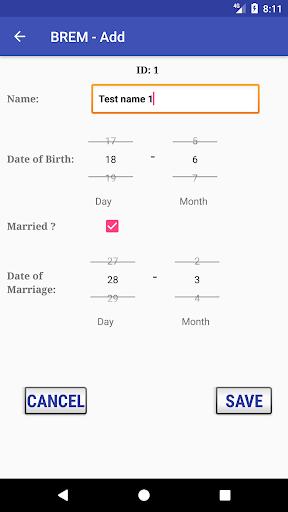 BREM (Birthday REMinder) 3.0 Screenshots 3